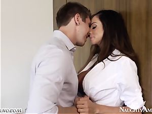 A mature chick seduced her daughter's young beau