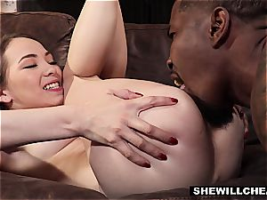 SheWillCheat - cheating wifey Pounces On dark-hued pipe