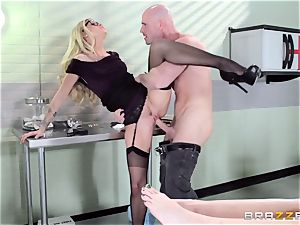 hot physician Jessa Rhodes checks out this meaty shaft