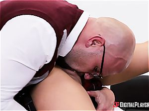 naughty college girl is worth to be disciplined for her misbehavior