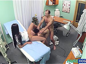 crazy doc banging handsome nurse and cleaning female