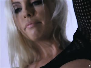 Britney Amber playthings in her muff
