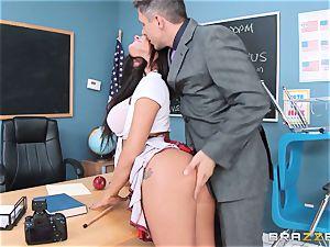 messy student Peta Jensen plows the lucky dean