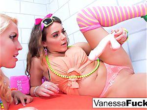 Vanessa and Natasha all girl jail
