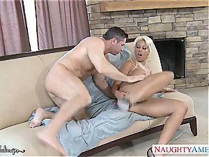 busty blond stunner Bridgette B. take boner